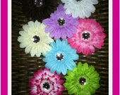 Hair flowers assorted colors you pick color great for Girls toddlers teens babies etc