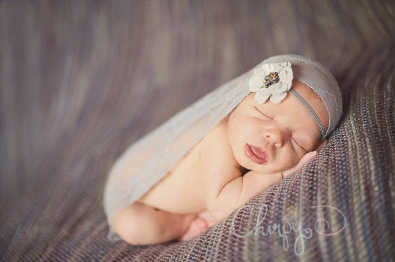 Newborn Stretch Lace or Knit Wrap Photography Prop NEW COLORS