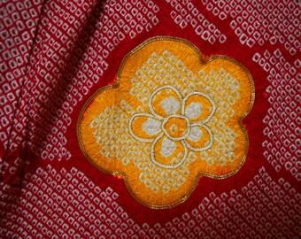 Vintage kimono 2443, furisode, shibori, gold thread, silk, kimono, japanese, silk, haori japanese, silk kimono, japanese kimono