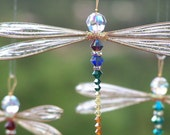 Suncatcher Dragonfly Medium - Birthstones & 28 More Swarovski Colors - Dazzlefly