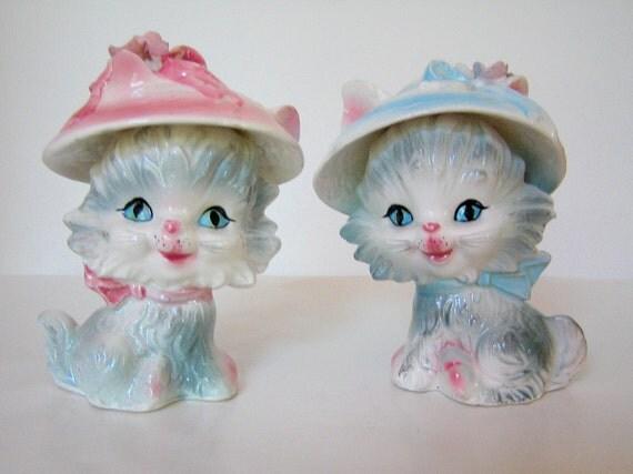 Vintage Kitten Salt and Pepper Shakers