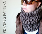 crochet cowl PATTERN - basketweave cowl PDF - JPG - immediate download