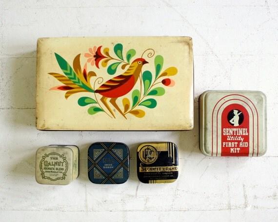 Vintage Tin Full of Vintage Tins