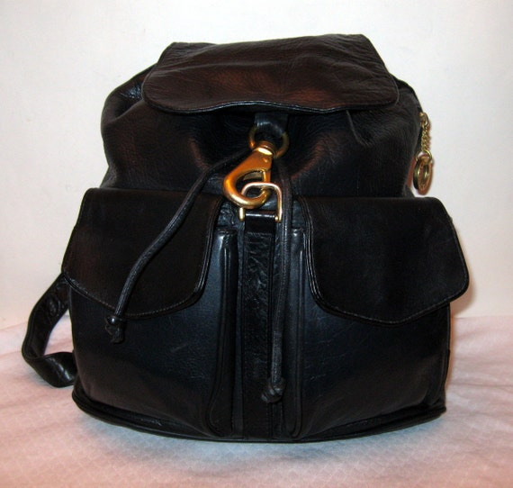 Reserved for GinnyLa Bagagerie France large backpack sling bag daypack butter soft gen leather vintage