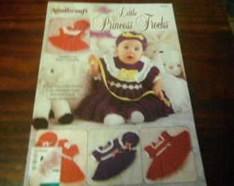 Baby Dress Crocheting Patterns Little Princess Frocks Needlecraft Shop 981001 Crochet Pattern Leaflet