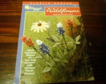 Plastic Canvas Patterns Wildflowers Needlecraft Shop 923328 Pattern Leaflet