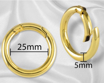 "2pcs - 1"" Gate Ring Gold - Free Shipping (GATE RING GRG-110)"