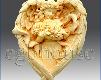 2D Soap Silicone Mold - Angel of the Seasons- Summer - free shipping