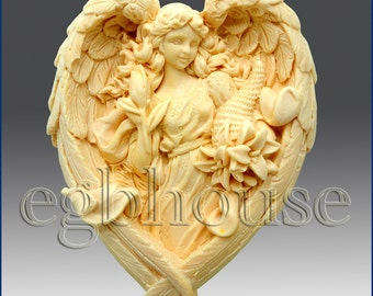 2D Soap Silicone Mold - Angel of the Seasons- Autumn - free shipping