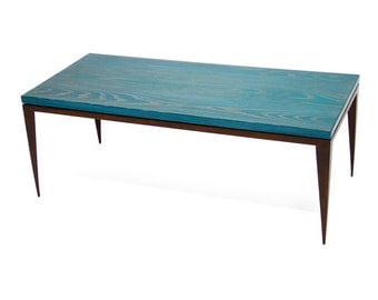 Blue Ceruse Coffee Table