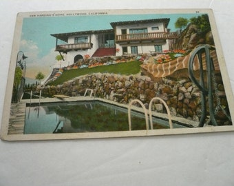 Vintage Postcard Home of Ann Harding in Hollywood CA
