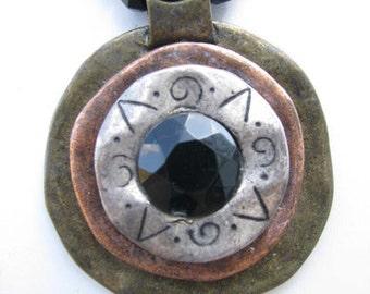 Vintage Sun Dial Necklace