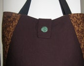 Greenman and Fall go beautifully together in this purse/tote bag with wonderful deep pockets.