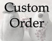 Custom Order Wedding Cake Topper -- For thadpitney