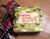 Puppy Love Mini Album Chipboard Scrapbook