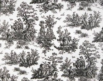 Jamestown Toile Black White fabric | Home Dec Fabric | Premier Prints