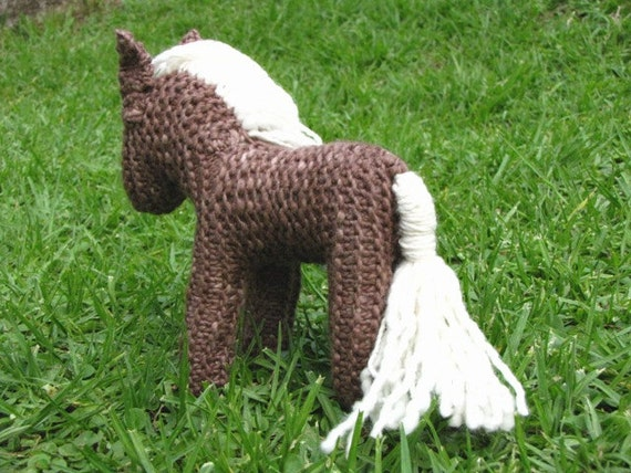 Knitting Pattern Toy Horse : Shadow the Horse Knitting Pattern, Waldorf Toy, PDF ...