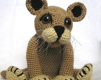 PDF Crochet Pattern LION CUB