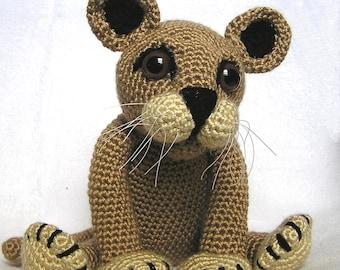 PDF Crochet Pattern LION CUB (English only)