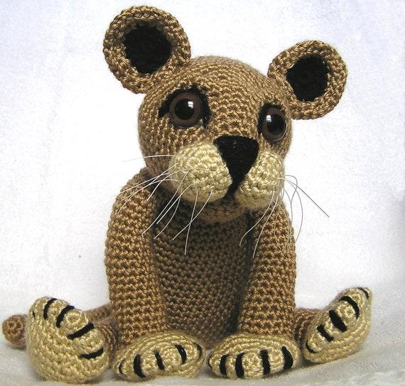 PDF Crochet Pattern LION CUB