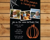 Babys First Birthday Invitations - Halloween Birthday