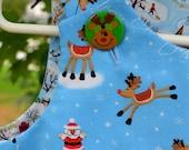 Ho Ho Ho Reindeer  Merry Christmas Cotton Jumper Dress