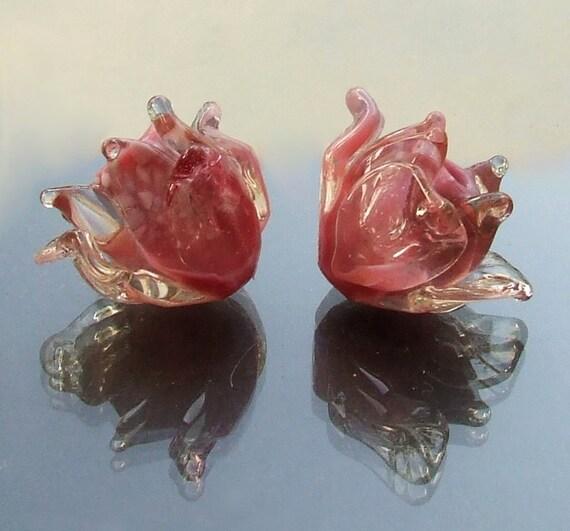 Silvia's Lampwork Glass Beads(1 pair)