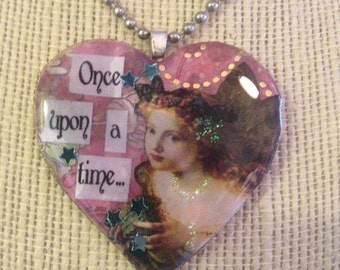 Once Upon A Time: A Fairy Tale Heart Shaped Necklace