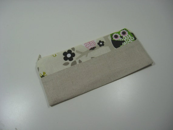 Pencil Case Pouch, Cosmetic Bag, Zippy Pouch - Owls