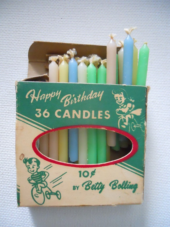 Two Boxes of Vintage Birthday Candles