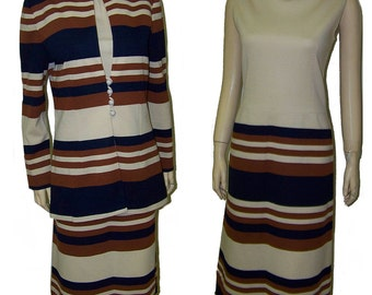 Mod mod mod dress and jacket by Act III medium striped