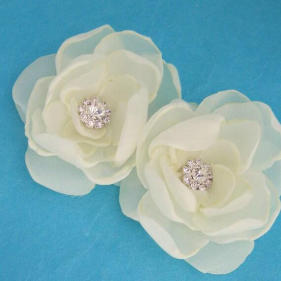 Bridal Hair accessory set, Small Double Yellow bobby  pin Set A161 - bridal bobby pins