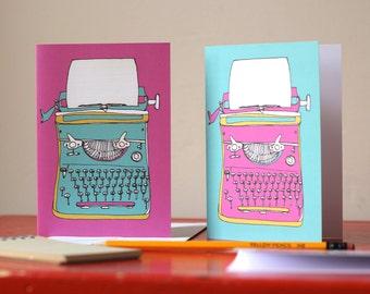Typewriter Greetings Card Retro Print