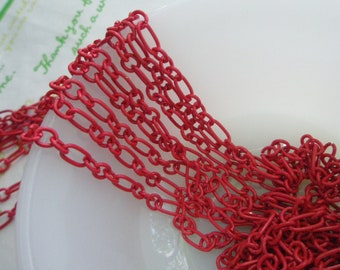 5 Feet Enamel chain RED 60 inches Link 9mm x 5mm Size--M
