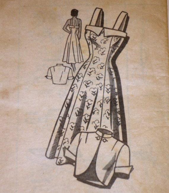 "Vintage 40s Marian Martin 9304 Sewing Pattern, Sundress And Bolero, Size 14, 32"" Bust"