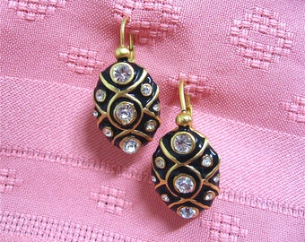 ON SALE was 24.99 Vintage Black Blanca Earrings