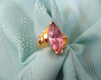 ON SALE was 16.99 Vintage Pink Crystal Ring