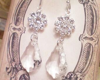 ALEXIA - Swarovski Baroque and Filigree Drop Earrings
