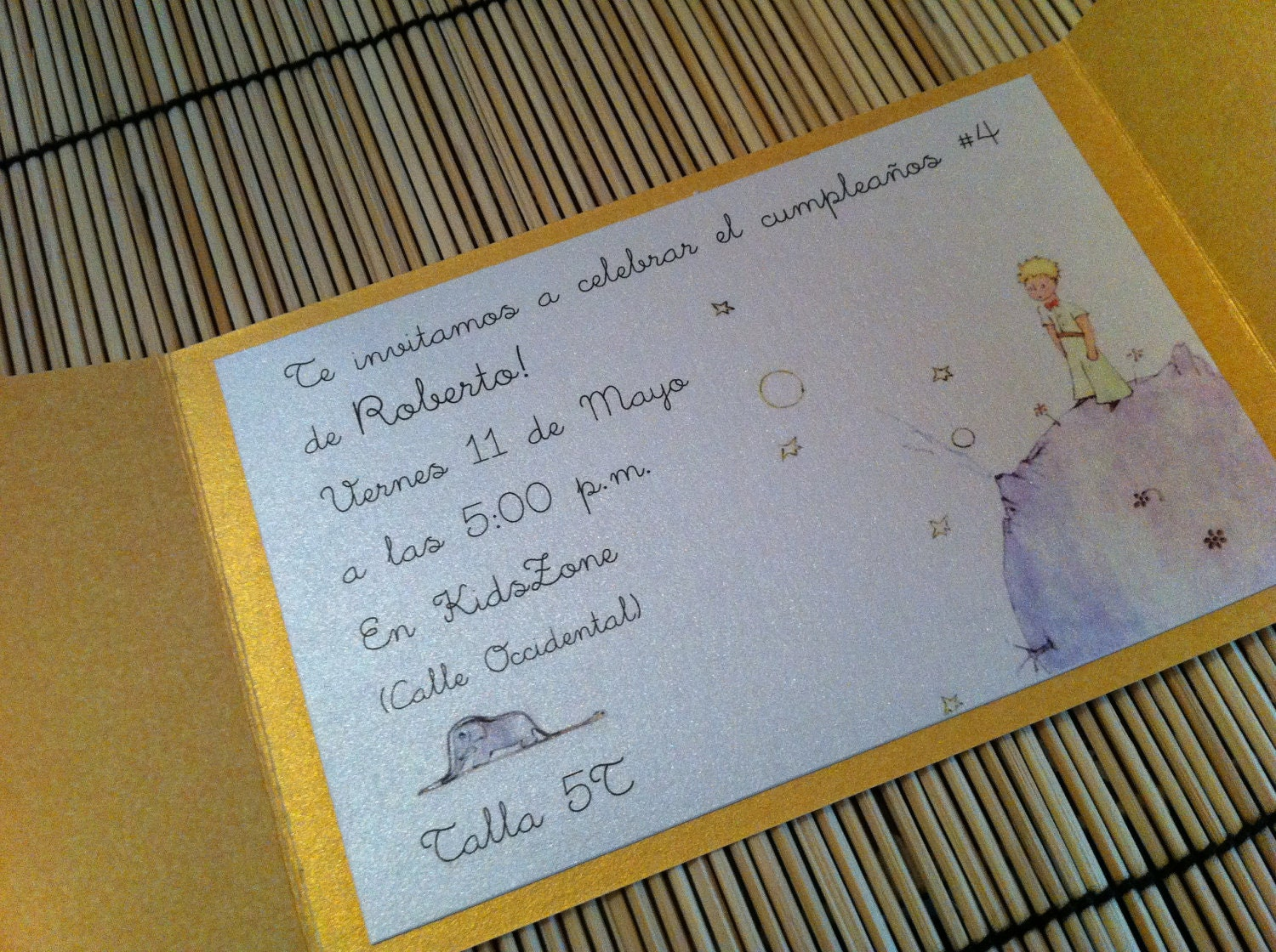 anaderoux: Deposit for Le Petit Prince Birthday Party Invitation ...