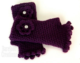 Women's Pretty Fingerless Mittens (4 sizes available)