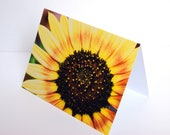 SALE - Lemon Sunflower - BLANK 4x6 Photo NoteCard