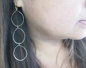 """Gold Hoop Earrings - Feather Light """"Triple"""""""