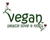 Vegan - Peace Love and Tofu hand painted patch