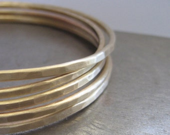 FIVE Brass Bangles