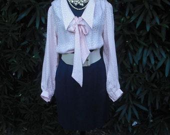 Vintage Skirt, Ann Taylor Navy Blue Skirt, Career Skirt, Secretary Skirt, Pencil Skirt, waist  26