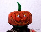 Halloween Doll Pumpkin Poppet