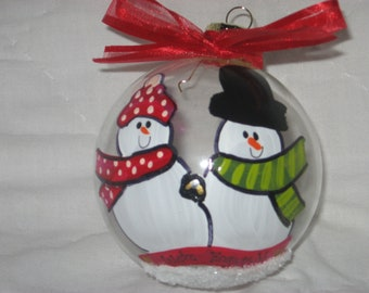 We're Engaged - Personalized Hand-Painted Ornament