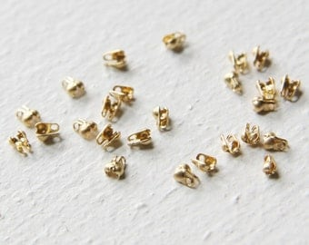 100pcs Matte Gold Plated Ball Chain Ending-1mm  (341C-I-162)
