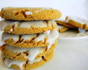The Ultimate Iced Molasses Cookies - The Middle Ones - TWO DOZEN (24 cookies)