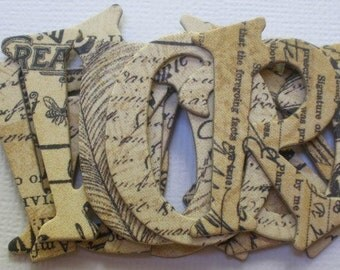 ARTiCLE Old Curiosity Shoppe - Chipboard Alphabets Frame and Tag Die Cuts -  1.5 inch Letters